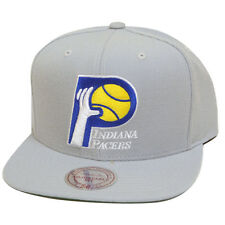 Mitchell & Ness NBA Indiana Pacers Gray Team Logo Old School Snapback Cap Hat
