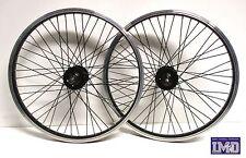 """Cerchi Ruote Bicicletta 20"""" bici BMX anteriore posteriore mozzo a filetto 14 mm"""