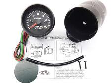 RSR Drehzahlmesser 52 6000umin DIESEL Zusatz Instrument Retro Look RPM Gauge 12V