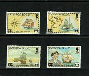 Ascension Is:1992, 500th Anniversary of the Discovery of America,  Mint set