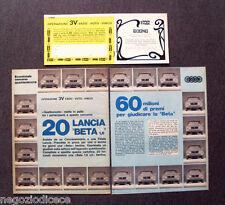 BE86 - Clipping-Ritaglio -1974- CONCORSO OPERAZIONE 3V QUATTRORUOTE LANCIA BETA