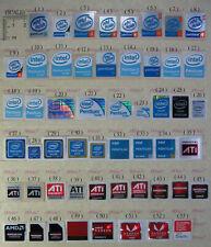 intel Pentium 3 Pentium 4 Pentium dual core Pentium m Gold Pentium D ATI Sticker