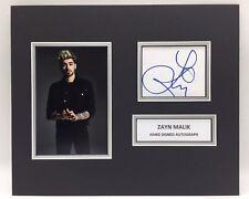 RARE Zayn Malik Hand Signed Photo Display + COA AUTOGRAPH 1D ONE DIRECTION