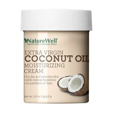 NatureWell Extra Virgin Coconut Oil Moisturizing Cream for Face & Body, 16 oz