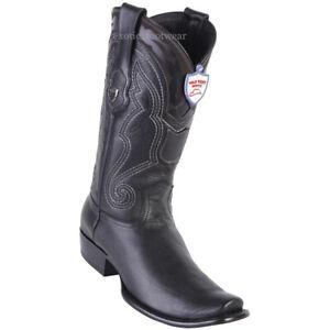 Men's Wild West Genuine Leather Western Cowboy Boots Dubai Toe