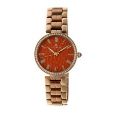 Empress Catherine Red Hammered Designed Dial Rose Gold-tone Steel Case Automatic