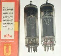 Y 2x Röhre Röhren Tubes Tube Valvo Telam EL86 EL 86 EL86PD in OVP