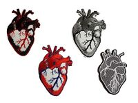 Human Heart Embroidered Iron On Sew On Patches Badges Transfers - Detailed
