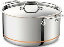 All-Clad Copper Core 8 Quart Stock Pot with Lid - 5-Ply - 6508 SS - NEW IN BOX