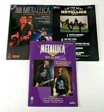 3 METALLICA Guitar & Bass Tablature Book Lot Heavy Thrash Metal Hard Rock