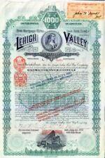 Lehigh Valley Rail Way Company NY 1890 Stock Bond Certificate