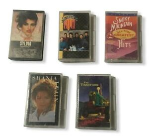 Country Cassette Tapes Lot of 5 Diamond Rio Shania Twain Sylvia The Tractors