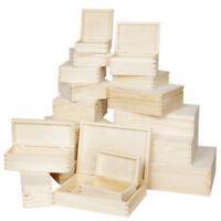 Allzweckbox Holzkisten Aufbewahrungskisten Mehrzweckkisten Holz natur 24 Größen