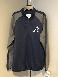 Mens Atlanta Braves Genuine Merchandise Quarter Zip Pullover Jacket Size XXL G58