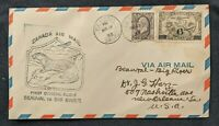 1933 Beauval Saskatchewan Canada First Flight Airmail Cover to New Orleans USA