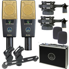 AKG C414 XLII ST Condenser Vocal Recording Microphone Matched Pair Stereo Set