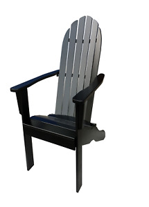 Adirondack Chair Solid Wood Durable Patio Garden Removable Natural Outdoor
