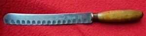 "ANTIQUE ""GRANTON""~ WOOD HANDLE BREAD KNIFE ~ 1920-1930's ~ 12 1/4"" LONG"