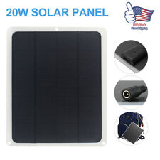 20w Solar Panel 12v Trickle Battery Charger Kit Maintainer Marine Boat Rv Car Us