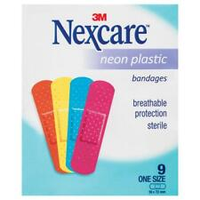 Nexcare Neon Plastic Strips Sachet 9 Pack Single Breathable Protection
