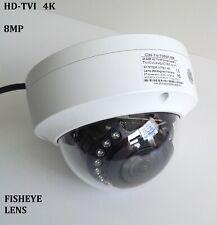 HD TVI 4K 8MP Fisheye Outdoor Indoor Dome Security Camera 360 Lens 4-in-1