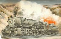 Baltimore & Ohio Railroad 6150 Class S1 2-10-2 Train 1973 Illustrated Postcard