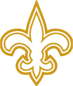 """New Orleans Saints NFL Decal """"Sticker"""" for Car or Truck or Laptop"""