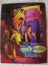 MO' BETTER BLUES 1990 Press Credits & Screening Invite Denzel Washington Spike L
