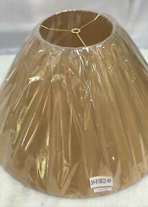 21 in. Beige Vertical Basic Coolie Kraft Paper Hardback Shade by CAL Lighting