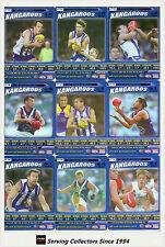 2006 AFL Teamcoach Tradinging Card Blue Platinum Team Set Nth Melbourne (9)