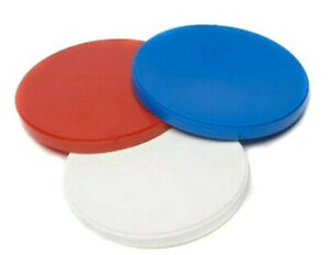 Tin Lid Pet Cover Can Covers / Baked Beans / Dog Food Lid In Blue Red Or White