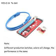 USB 3.0 PCI-E Express 1X to16X Extender Riser Card Adapter For 8 GPU Miner nn