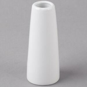 "Acopa 4"" Bright White Porcelain Bud Vase"