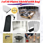 1pc Wind Shield Silver 10 Plates Screen Camping Outdoor Accessories Fun Cooking