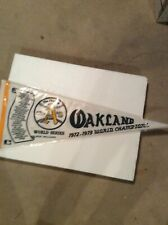 Oakland A's 1972-1973 World Series Champions pennant