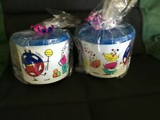 NEW  Tupperware Children's Shape O Toy Print Canisters - 2 cups- set of 2