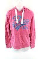 SUPERDRY Womens Hoodie Jumper M Medium Pink Cotton & Polyester