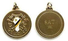 Medaglia Con Vernice Società Canottieri Esperia Torino SAT 1981 Metallo Argentat