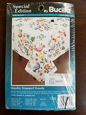 Bucilla Special Edition Stamped Cross Stitch 6 Quilt Blocks 63165 Amish Birds