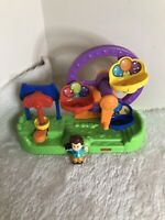 FISHER PRICE LITTLE PEOPLE MUSICAL, TALKING BIG WHEEL RIDE WITH 1 FIGURES