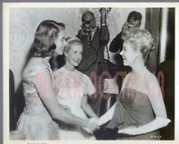 VINTAGE PHOTO 1957 Ingrid Bergman Mitzi Gaynor greet at Hollywood Premier candid