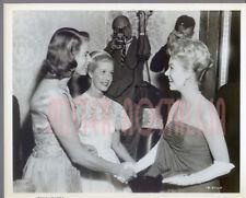 VINTAGE PHOTO 1957 Ingrid Bergman Mitzi Gaynor greet at Hollywood Premier candid