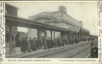Schnectady NY Union RR Train Station c1905 Postcard