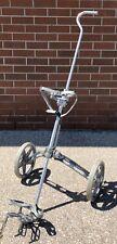 Vintage Bag Boy Automatic Golf Cart Bag Caddy Push Pull Cart equipment wheeled