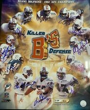 DUHE, BAUMHOWER, BOKAMPER  KILLER 'B'S  MIAMI DOLPHINS  SIGNED LIMITED ED. 16x20