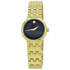 Movado Veturi Black Dial Gold-Tone Women's Watch 0606935