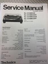 Technics SL1200/1210 M5G Turntable Service Manual
