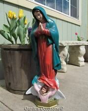 "Color 24"" OUR LADY OF GUADALUPE MARY STATUE Indoor Outdoor Garden Decor *USA*"
