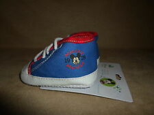 Disney Baby Mickey Mouse 6-9 Months Comfy Fit Shoes By Planet Sox, NEW WITH TAGS