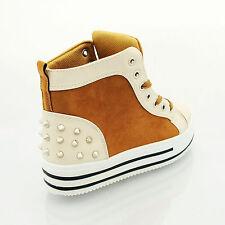 Mädchen Frauen Damen Trendy Plateau Fashion Pumps Turnschuhe Schuh Größe 3 4 5 6 78
